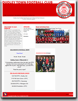 BEFORE Dudley Town FC's new website